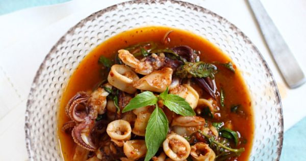 Thai basil_squid | recipes | Pinterest