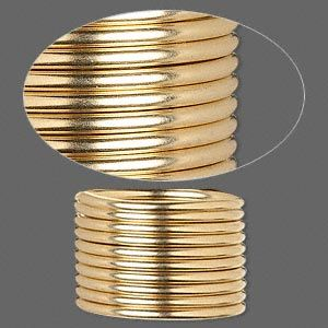 Wire 12kt Gold Filled Full Hard Round 12 Gauge Sold Per Pkg Of 5 Feet Metal Wire Wire Gold Filled