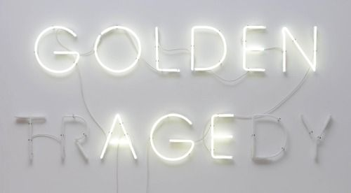 Neon Golden Age Tragedy Neon Signs White Aesthetic Neon