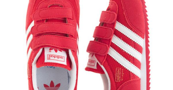 Kids' Adidas® Dragon sneakers in red and white | Red adidas shoes ...