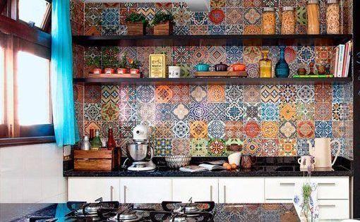 Frentes de cocina con azulejos decorativos azulejos - Azulejos vinilicos ...