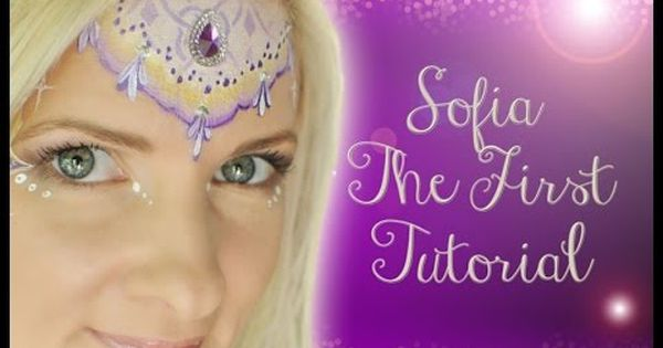Royal Princess Sofia The First Inspired Face Painting Makeup Tutorial Face Painting Girl Face Painting Princess Face Painting