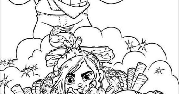 Wreck It Ralph Coloring Pages 30...these Would Be AWESOME
