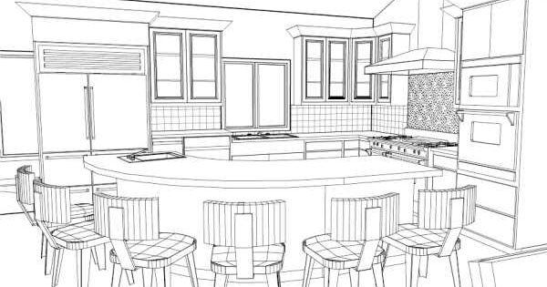 Kitchen perspective google search hand rendering for Apprendre a dessiner une maison en perspective