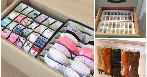 33 amazing tips to keep your closet and dresser organized diy cozy home organizzazione casa - Tips to keep your house more organized ...