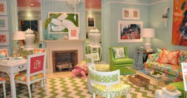 Lilly Pulitzer Inspired Room Maybe For A Playroom Our