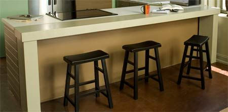 Home Dzine Extend Kitchen Countertop Or Add Breakfast Bar