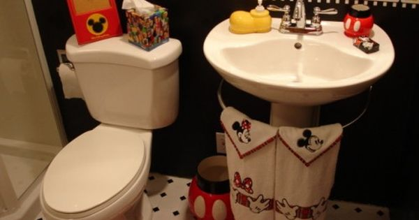 15 Cute Kids Bathroom Decor Ideas Shelterness Kid Bathroom Decor Mickey Mouse Bathroom Disney Home Decor