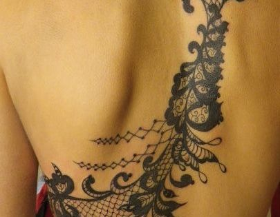 beautiful lace back piece