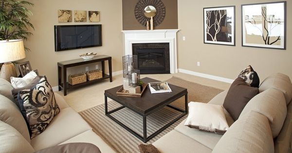 Transitional living room with stone fireplace carpet for L shaped living room with fireplace