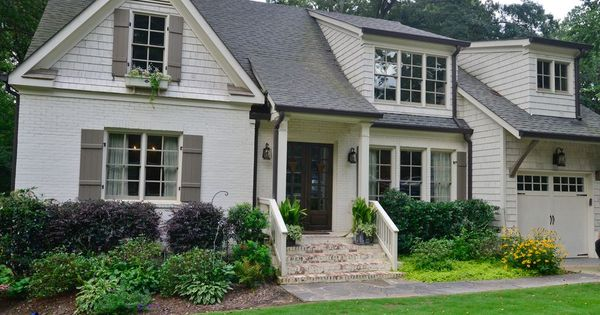 Benjamin Moore Winter Wheat W Texas Leather Shutters Mom 39 S House Exterior Pinterest