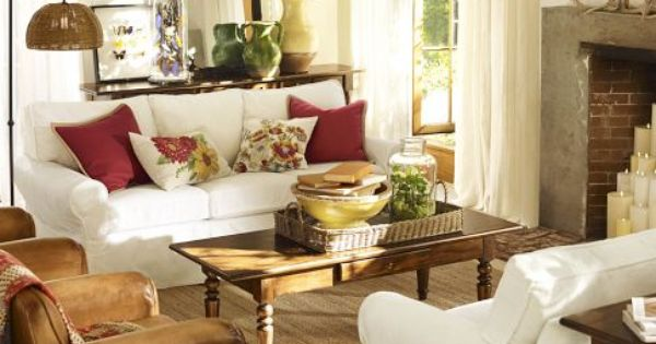 pottery barn living room ♥
