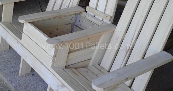 Adirondack Jack Amp Jill Chair From Pallets Pallet Chair