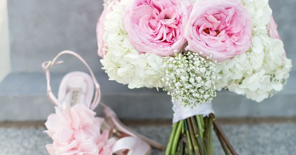 Ivory Hydrangeas Pale Pink Garden Roses Ad Accents Of Baby S
