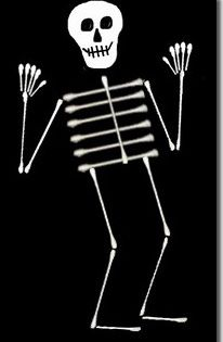 q tip skeleton template - q tip skeleton easy fun craft for the kiddos kidd