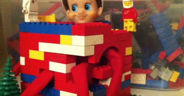 Elf on the Shelf Imprisoned in lego :)