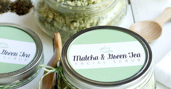 DIY Matcha and Green Tea Facial Scrub with Free Printable ...
