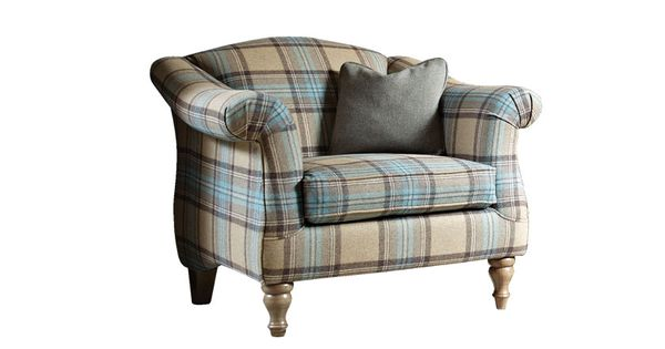 Best Campion Accent Chair Beningbrough Plaid Fabric In 400 x 300