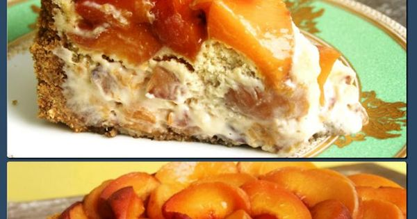 Peach cheesecake, Peaches and Cheesecake on Pinterest