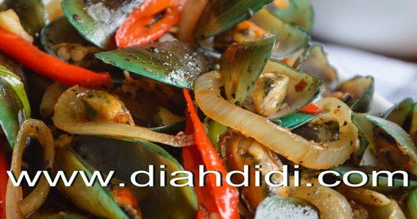 Diah Didi's Kitchen: Kerang Hijau Saus Lada Hitam | Clam | Pinterest ...