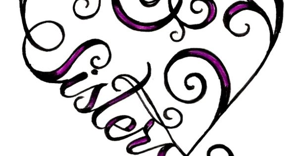 I Want This But For Our Favorite Colors For The Sister And Another Color For The Heart Tattoos