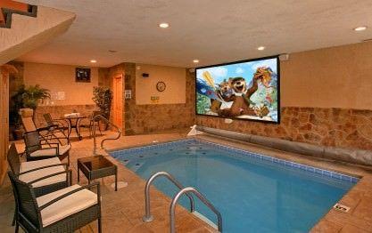 Skinny Dippin Cabin In Wears Valley Elk Springs Resort Indoor Pool Design Small Indoor Pool Luxury Swimming Pools