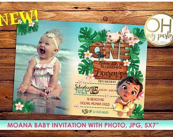 Moana Invitation Moana Birthday Invitation With Photo Moana