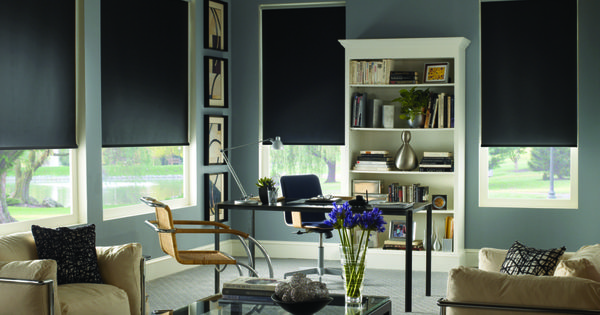 Blackout Roller Shades Perfect For The mediaroom