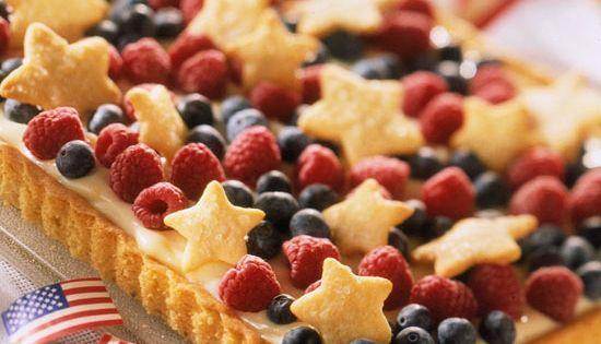 4th of July *Food* - Red, White Blue Tart (recipe)