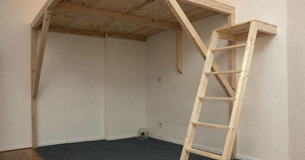 um die ecke mit anderer leiter und in weiss wohnen pinterest leiter hochbett selber. Black Bedroom Furniture Sets. Home Design Ideas