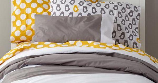 90 the land of nod new school bedding widest stripe in girl bedding girls bedroom. Black Bedroom Furniture Sets. Home Design Ideas