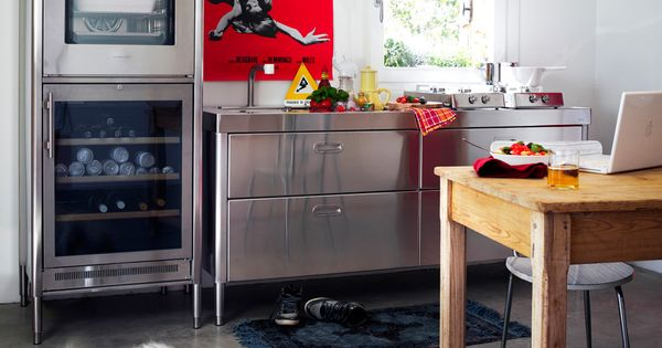 tolle singleküche mit industrie-design-elementen | ideen für eine, Kuchen deko