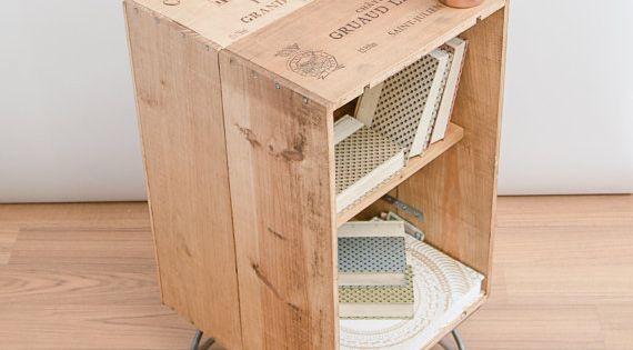 caisse de vin en bois r cup r meubles armoire coffee. Black Bedroom Furniture Sets. Home Design Ideas