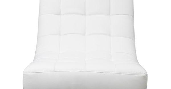 boss fauteuil pivotant fauteuil pouf et cuir blanc. Black Bedroom Furniture Sets. Home Design Ideas