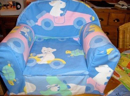 Nouvelle housse pour un fauteuil d 39 enfant couture for Coudre housse fauteuil