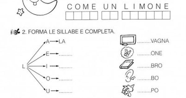 Schede consonante l classe prima 2 schede didattiche for Ba cabina di prima classe
