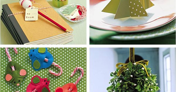 Easy Christmas Crafts. I just really like the name tag for your