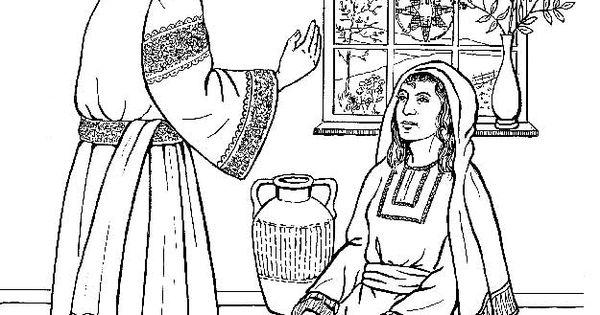 De Engel Gabriel Bij Maria Kerst Kleurplaten