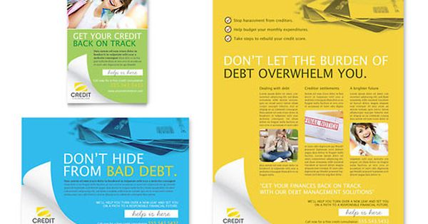 counseling brochure template - credit counselor flyer ad design brochures