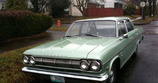 Amc Rambler American Sedan Amc Pinterest Sedans And American