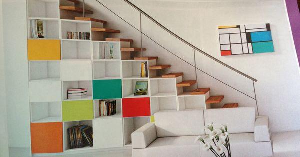 Rangement sous escalier rangement pinterest - Bureau sous escalier ...