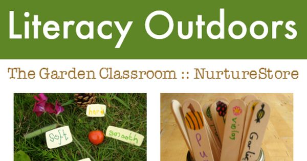 Literacy activities outdoors :: outdoor learning :: garden classroom ideas :: outdoor
