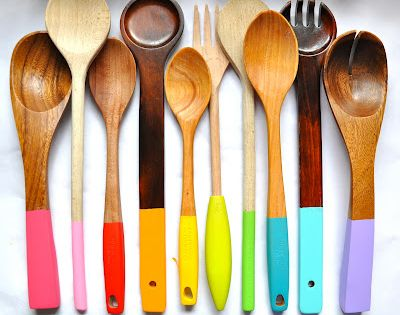 top 6 spring diy projects. love these painted spoons!