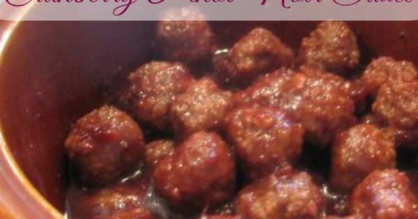 Cocktail Meatballs In Cranberry Pinot Noir Sauce Recipe, Whats Cooking ...