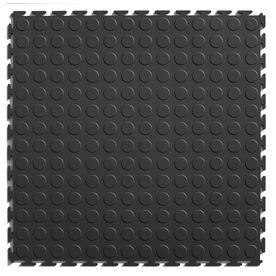 Shop Perfection Floor Tile 8 Piece 20 5 In X 20 5 In Light Gray Raised Coin Garage Floor Tile At Lowes Com Plastic Tile Multipurpose Flooring Interlocking Tile