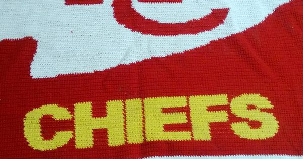 Crochet Pattern Kansas City Chiefs Afghan : Awesome Kansas City Chiefs crochet blanket. Really wish ...