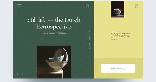 Still Life The Dutch Retrospective In 2020 Clean Web Design Creative Web Design Web Design