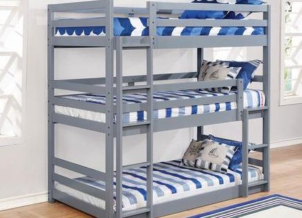 Sandler Collection 410302 Twin Size Triple Bunk Bed With Modular