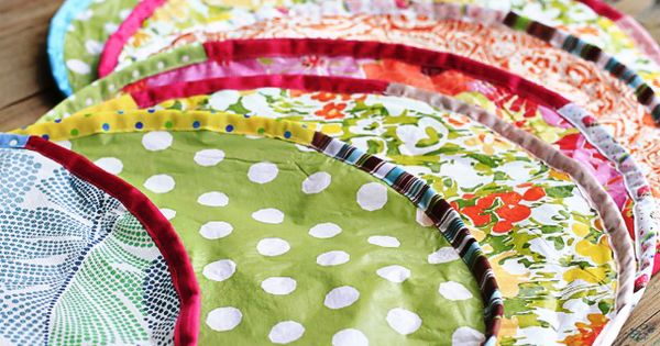 Simple Round Situpons Sit Upons From Vinyl Tablecloth