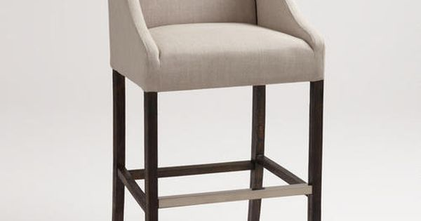 Linen Hayden Barstool Possible Choice For The Bar Comfy